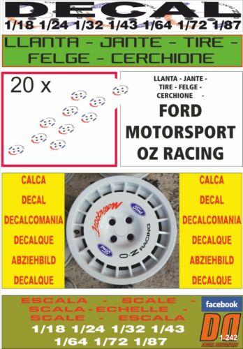DECAL LLANTA FORD MOTORSPORT O Z RACING 05
