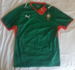 best website c0639 30a56 Details about Morocco 2008 - 2009 home football shirt soccer jersey, Puma,  size M, BNWT