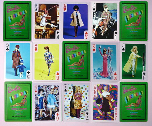 BARBIE MOD ERA CUSTOM DECK OF PLAYING CARDS 2017 BARBIE CONVENTION