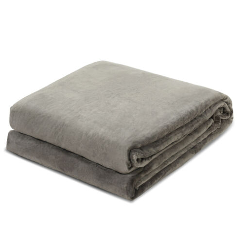 """60/""""x80/"""" Heavy Gravity Weighted Blankets Queen//King Size with Glass Beads Gray"""