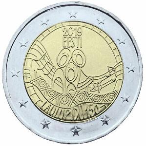 2-euros-conmemorativos-Estonia-2019-150-Festival-de-la-Cancion-de-Estonia