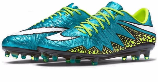 c7330a31a NIB NIKE Sz8.5US HYPERVENOM PHINISH FG SOCCER WOMEN CLEATS BLUE LAGOON  WHITE 200