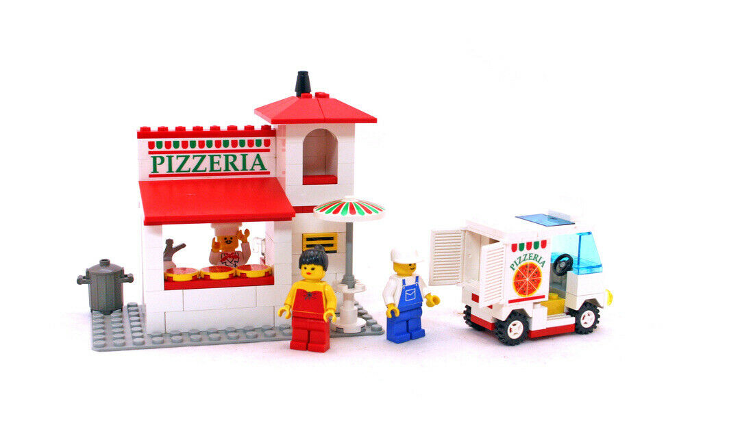 LEGO Classic Town Food & Drink Set 6350-1 PIZZA TO GO 100% complet