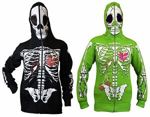 Image is loading Womens-Full-Face-Mask-Skeleton-Skull-Hoodie-Sweatshirt- 26cd64dd7a
