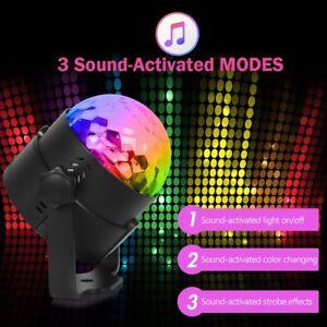 DJ-Club-Faro-sfera-Led-RGB-luce-Strobo-da-Discoteca-Lampada-Effetti-luci-Party