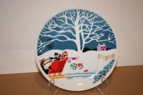 Shafford Christmas Eve Pattern Fine Porcelain Dessert Plate 7-1//2 Inch