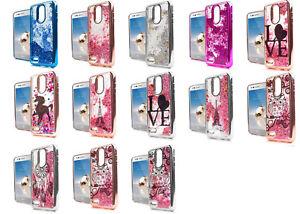 best website fffa7 f0d90 Details about For LG Rebel 4 LML212VL / LML211BL Liquid Glitter Case Phone  Cover