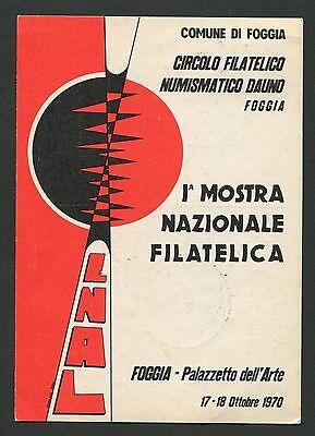 Gehorsam Italien Mostra Filatelica Foggia Cartolina Ausstellung Sonderkarte C9451 Lassen Sie Unsere Waren In Die Welt Gehen