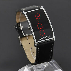 Unisex-Stainless-Steel-LED-Digital-Date-Watch-Leather-Strap-Casual-Wristwatch
