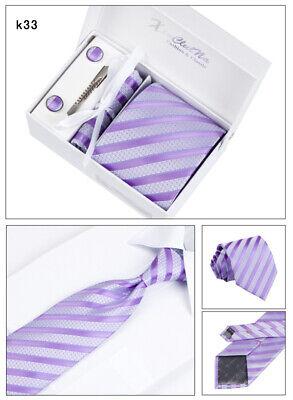 Krawatte Manschettenknöpfe Tuch Tie Clip,4 Er Herren Geschenk Set Cufflinks (29)