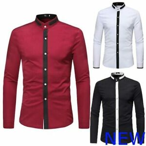 Shirt-Top-Long-Sleeve-Mens-Slim-Fit-Luxury-Casual-Stylish-Dress-Shirts-Floral