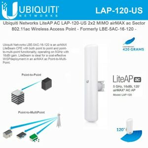Details about Ubiquiti Networks LAP-120-US LiteAP AC 2x2 MIMO airMAX ac  Sector Access Point