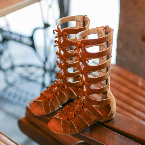 2019 girls sandals kids gladiator sandals summer boots High-top fashion Roman