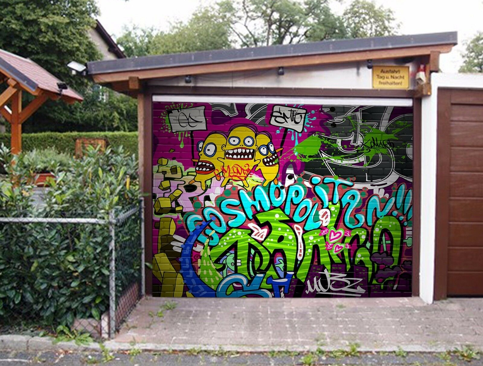 3D Bright graffiti Garage Door Murals Wall Print Decal Wall Deco AJ WALLPAPER UK