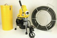 S75 Bluerock 34 To 4 Sectional Pipe Drain Cleaning Machine Snake Cleaner