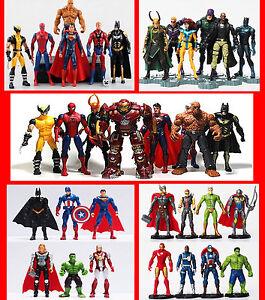 Super héros Avengers Batman Superman Thor Hulk Capitaine America Thing Figures de Loki