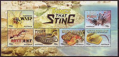 Briefmarken Treu Australien 2014 Dingen That Sting Sonderblock Nicht Gefaßt Postfrisch