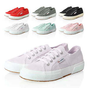 NUOVO-Superga-Sneaker-Donna-Low-Top-Canvas-Scarpe-Sportive-Scarpe-da-donna-color-mix