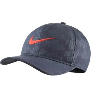 Nike-Golf-Just-Do-it-Snapback-Hat-Cap-AR6304-471-Thunder-Blue-Coral-Men-039-s-NEW