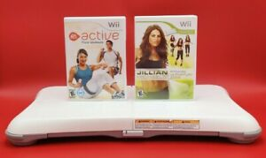 Nintendo-Wii-Fit-Balance-Board-Wii-Bundle-Lot-Games-Clean-Tested