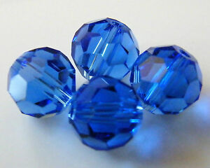 75pcs-8mm-Faceted-Round-Crystal-Beads-Dark-Sapphire-Blue