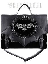 Restyle Magic Bat Briefcase Satchel Handbag Gothic Cameo Bag Bat Wings Witch