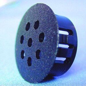 4 abdeckkappen f r bohrungen mit l ftung kunststoff schwarz ebay. Black Bedroom Furniture Sets. Home Design Ideas