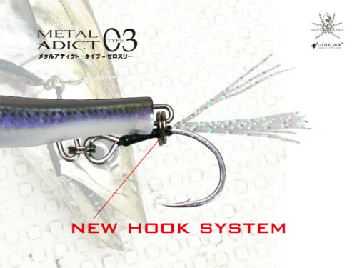 Artificial Jig Spinning Metal Adict Type 03 Little Jack 40 Gr Col 08 Pesca Lure