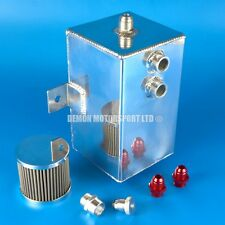 3 Ltr AN8 -8 Alloy Oil Catch Tank Can with Breather Filter & Drain Sump Plug