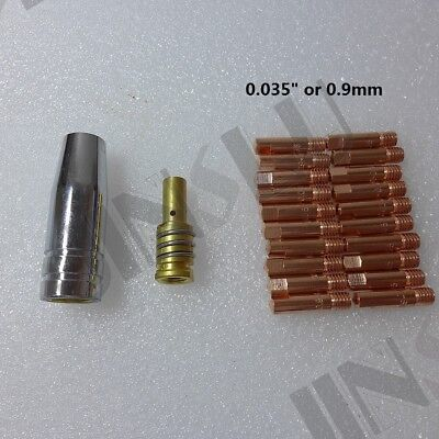 Short Gas Diffuser 0.9mm 035 Kit For Mig Gun Mig Welder