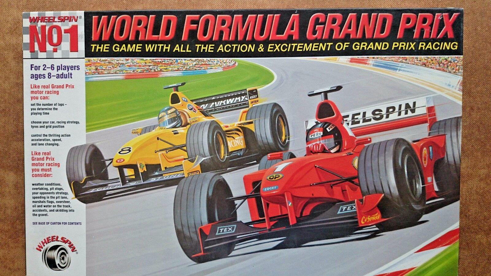 Welt - formel grand - prix - brettspiel von rad drehen, 1999