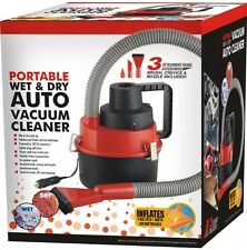 NEW AUTO/CAR VAN BOAT VACUUM CLEANER 12V WET & DRY PORTABLE WITH ACCESSORIES UK