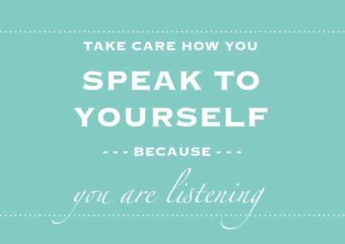 """/""""SPEAK TO YOURSELF/"""" Motivational Inspirational Sayings Poster Multiple Sizes"""
