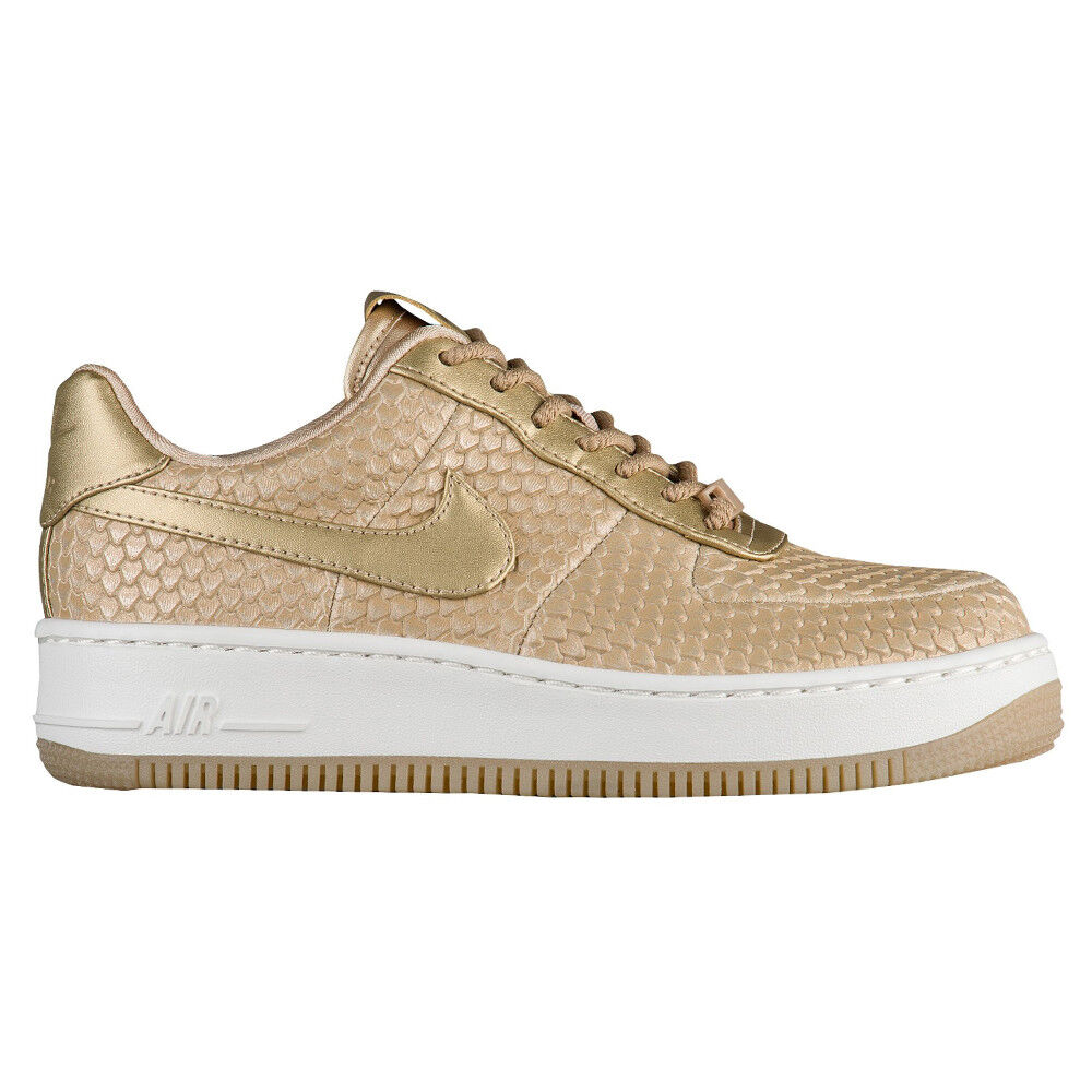 Nike Air Force 1 Upstep Metallic Anaconda Womens 917590-900 bluer shoes Size 10.5
