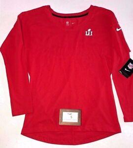 76f0b84d36f59 Nike Womens Super Bowl Li Size XS Long Sleeve Shirt Tailgate Red NFL ...