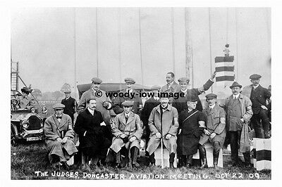 Yorkshire Photograph 6x4 Perfect In Workmanship Romantic Pt8493 Judges At Doncaster Aviation Meeting 1909