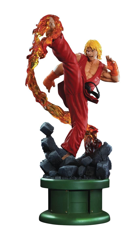 STREET combatiente Ken Masters 1 4 SCALA Statua ULTRA CON DRAGO FIAMMA Pop Culture