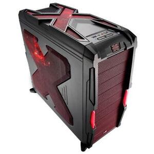 PC-Gehaeuse-Midi-Tower-AeroCool-Strike-X-Advance-Devil-Red-rot-mit-Luefter-ATX