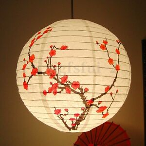 14 chinese bamboo plum blossom paper lantern lamp shade oriental image is loading 14 034 chinese bamboo plum blossom paper lantern aloadofball Gallery