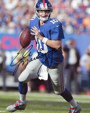 ELI MANNING-New York Giants QUARTERBACK-NFL-SIGNED AUTOGRAFO RISTAMPA