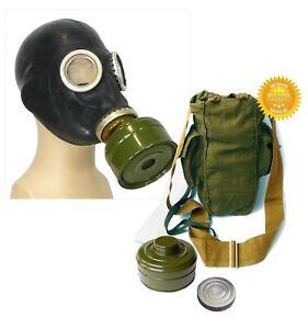 Black-Size-3-Large-Soviet-Russian-Military-Gas-mask-GP-5-FULL-SET