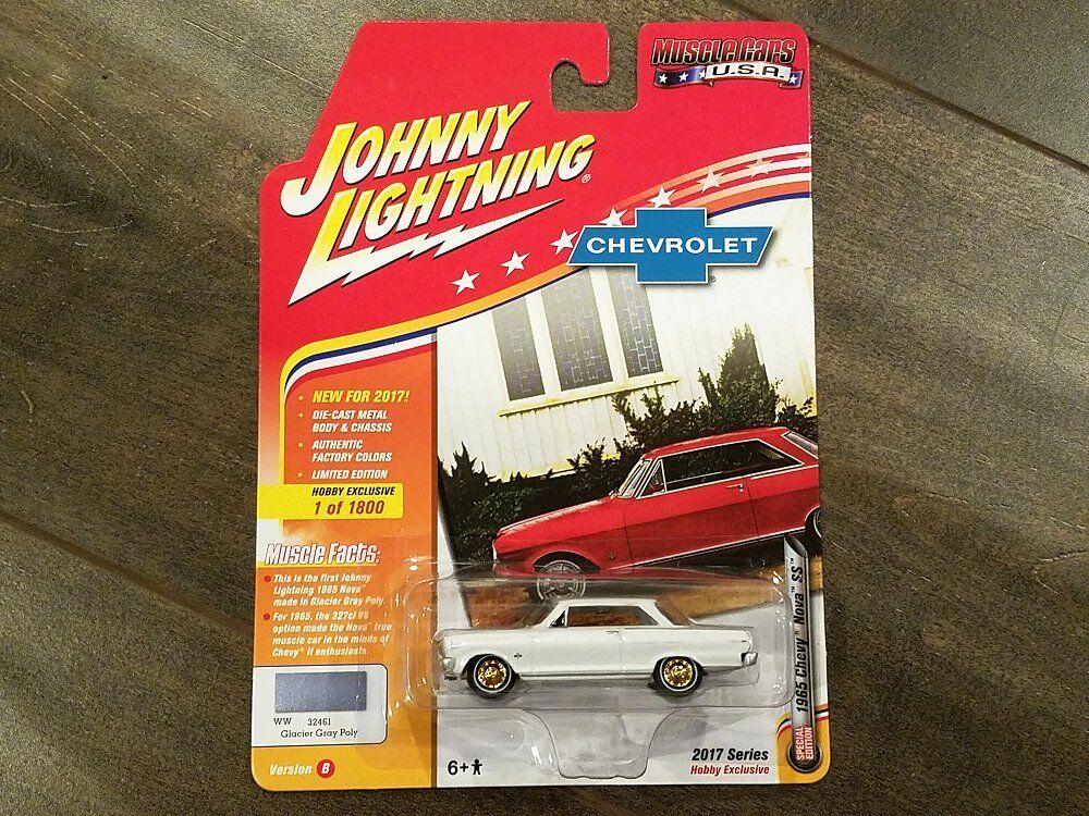 Johnny Lightning 1 64 Muscle Cars USA Version B 1965 Chevy Nova SS JLMC010 CHASE