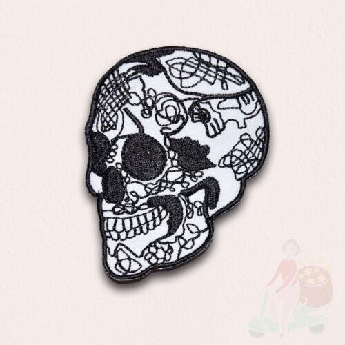 Cabeza del Cráneo Horror Gótico Punk Motociclista de tatuaje Hierro en Coser Parche Bordado