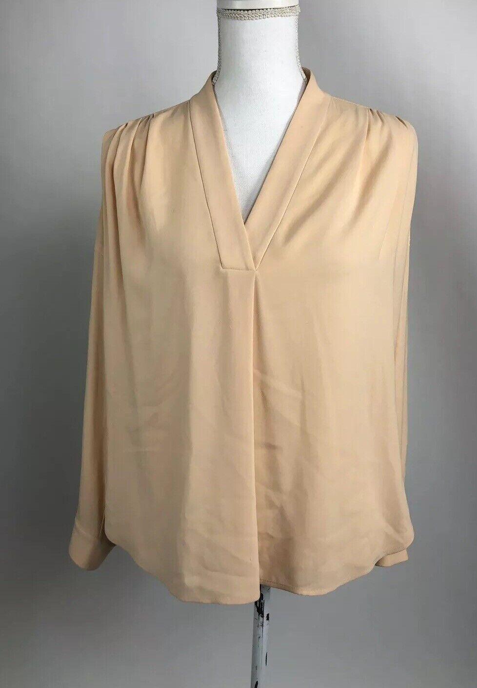 Mm lafleur Long Sleeve Tunic High Low Peach Farbe Größe Small S Blouse