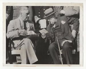 Winston-Churchill-amp-Franklin-Roosvelt-Vintage-Wire-Service-Photo