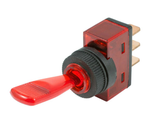 Red On//Off Duckbill Toggle Switch 12V LED Car Dash Dashboard Boat SPST