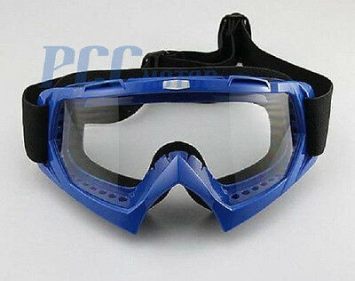 BLUE DIRT BIKE ATV MOTORCYCLE GOGGLE MOTOCROSS GOGGLES I GOGGLE-BLUE