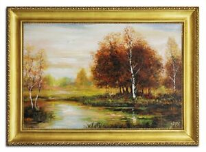 Oil-Painting-Pictures-Hand-Painted-Baroque-with-Frame-Art-G96503