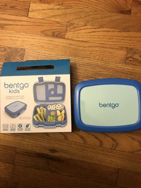 New Open Box Blue Bentgo Kids Bento Lunch Box 5 Compartment