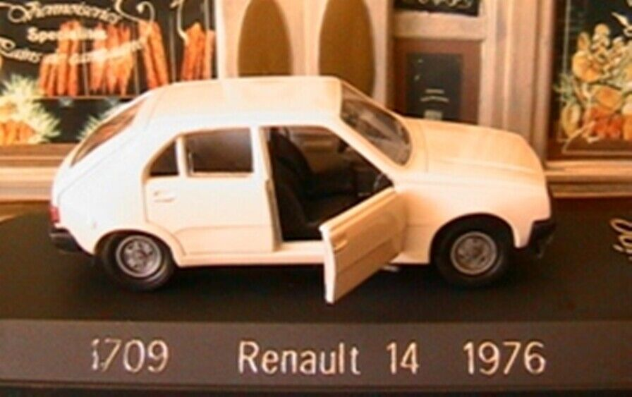 RENAULT 14 BLANCHE DE 1976 SOLIDO EXCLUSIVE 1709 1 43 blanc WEISS blanc R14